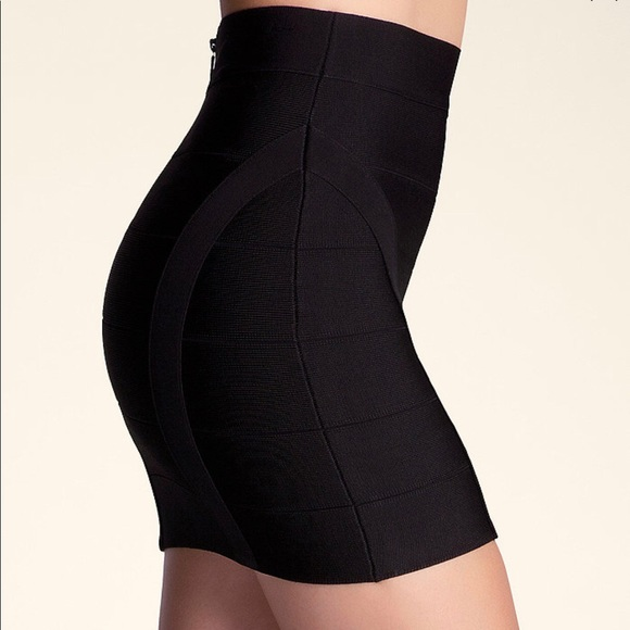 bebe Dresses & Skirts - SEXY PRINCESS BANDAGE BLACK MINI SKIRT